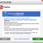FileZilla bundle HotspotShield