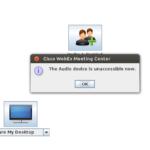 But WebEx audio still fails